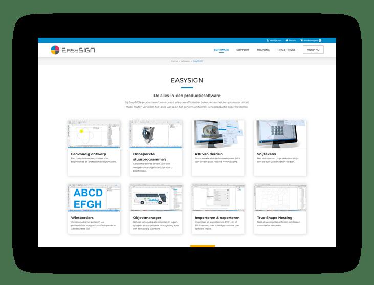 WooCommerce webshop EasySIGN - scherm 2