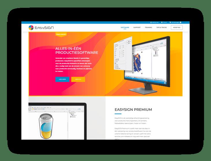 WooCommerce webshop EasySIGN - scherm 1